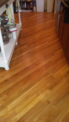 EXHIBIT B    new sand, stain and urethane on Ft. Thomas job by Home Based Carpet & Flooring