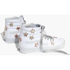 973c40b7b Madewell Star-Patched Vans® Unisex SK8-Hi High-Top Sneakers ( 110) ❤ liked  on Polyvore featuring shoes