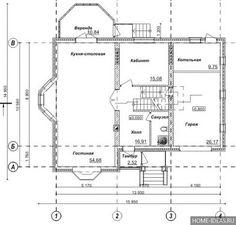 Проекты домов и коттеджей бесплатно: чертежи и фото   Home ...