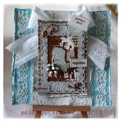 Handcrafted Card for Best Friend in shabby style