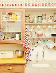 A shabby chic kitchen with delightful details