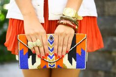 stylish clutch handbags & purses  beaded chevron clutch: love the one in this pic