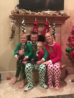 The Weatherford Family in their matching PJs!