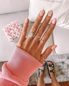Short Nail Designs, Nail Designs Spring, Nail Designs Floral, Stylish Nails, Trendy Nails, Cute Spring Nails, Fire Nails, Dipped Nails, Dream Nails