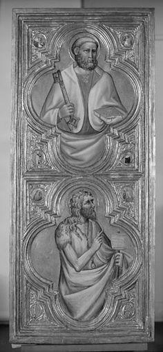 Olivuccio di Ciccarello - Madonna col Bambino e i santi Pietro, Paolo, Giovanni Battista, e Francesco, dettaglio Trittico -1410 - Walters Art museum, Baltimore
