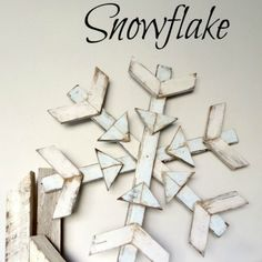 Wooden Snowflake: 10 Tutorials and Christmas Decorating Ideas - See all 10: http://www.familyhandyman.com/smart-homeowner/10-tutorials-and-christmas-decorating-ideas