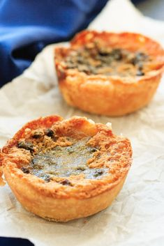 Butter Tarts - Sweet, buttery, caramel-y, amazing. These butter tarts are a Christmas tradition around here! Easy Pie Recipes, Tart Recipes, Sweets Recipes, Baking Recipes, Real Food Recipes, Great Recipes, Favorite Recipes, Mini Desserts, Delicious Desserts