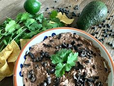 This quick and easy Black Bean Hummus is sure to be a hit at your Cinco de Mayo celebration! Black Bean Hummus, Black Bean Recipes, Beans Recipes, Canned Black Beans, Tortilla Chips, Plant Based Diet, Whole Food Recipes, A Food
