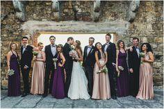 Rosewater & Aubergine ballgowns | twobirds Bridesmaid Dresses | A beautiful wedding featuring our multiway, convertible dresses | Photographer - www.hochzeitsfotograf-hamburg.deen