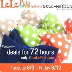 Lele Pets & Stud-Muffin Pet Bow Ties