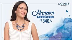 Are you in love with fresh #fashion? Enhance ur look with HARPER neckpiece @ Rs. 340