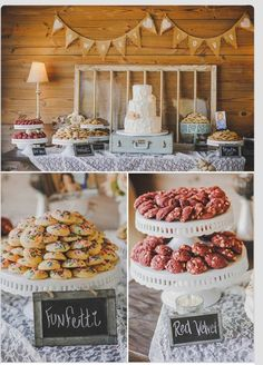 Wedding Dessert and Candy Displays, Add tasty flair to an elegant or rustic wedding reception with a dessert table that tantalizes guests while reflecting your unique personality., Wedding Dessert and Candy Displays Cookie Bar Wedding, Wedding Cookies, Wedding Desserts, Cookie Bar Party, Wedding Cupcakes, Dessert Bar Wedding, Mini Cupcakes, Buffet Dessert, Dessert Bars
