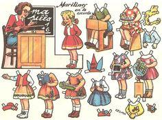 RECORTABLES LOLI DOLL-Mateos-RAFAEL-ZARAGOZA CASTILLEJO Marilines in School   Celma/ author