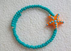 Bracelet Turquoise Memory Wire Bangle by jooleria on Etsy, $14.00