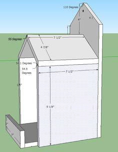 Open Box Robin Bird House Plans                                                                                                                                                                                 More