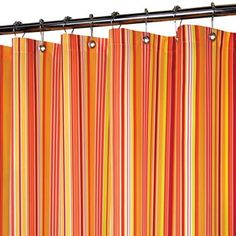 Watershed by Park B. Smith Strings Striped Fabric Shower Curtain