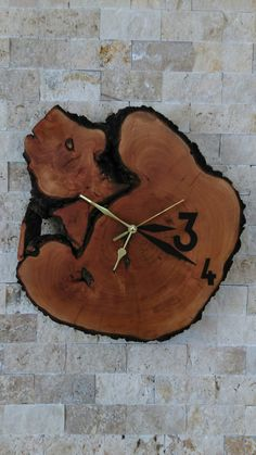 Ahşap ahsap Saat Turkey Wood Clock