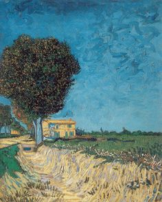 Art of the Day: Van Gogh, A Lane near Arles, May 1888. Oil on canvas, 61 x 50 cm. Pomeranian State Museum, Greifswald.