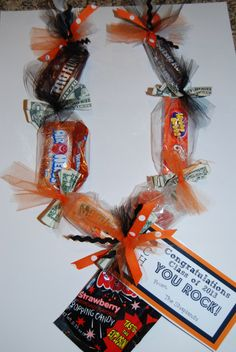 graduation money lei | Edible School Graduation Candy Lei with by TheCandiedBoutique