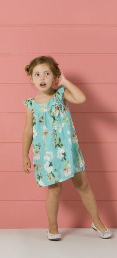 pv15-lookbook-infantil-niña-4 My Little Girl, Little Girl Dresses, Girls Dresses, Summer Dresses, Outfits Niños, Kids Outfits, Little Fashion, Kids Fashion, Moda Kids