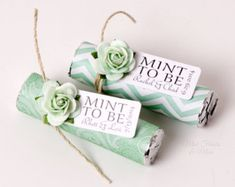 Pastel mix of rose colors with custom tags by MintFavorsAndMore