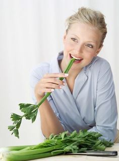 Eating celery while with your man?  You may want to jump him – the veg releases odours that make you horny!