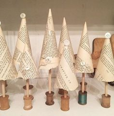 Trendy Diy Christmas Tree Recycled Book Pages 45 Ideas #diy #book