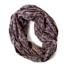 Floral Print Jersey Infinity Scarf | Claire's
