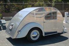 wood teardrop camper | Classic 1947 Teardrop Trailer With Volkswagen Bug Fenders & Tail ...