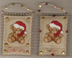cross stitch teddy bears   Christmas Ornament Stitch-A-Long