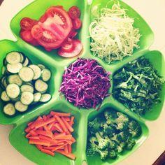 """❤️ #dinner #salad #saladplate #yummy #healthy #fresh #organic #gohealthy #eatclean #eathealthy #healthyeating #healthy2014 #nutrition #cucumber #carrots…"""