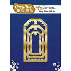 Creative Dies Plus Wonky Stitches Collection - Nesting Tags die set - CraftStash