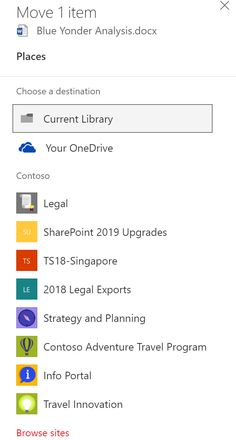 Now – move files anywhere in Office 365, SharePoint and OneDrive  ||  Last year, we released enhancements that allow you to copy files in Office 365.  Today, we're adding the ability to move files in Office 365 with full fidelity protections for metadata and version management. This https://techcommunity.microsoft.com/t5/SharePoint-Blog/Now-move-files-anywhere-in-Office-365-SharePoint-and-OneDrive/ba-p/146973?utm_campaign=crowdfire&utm_content=crowdfire&utm_medium=social&utm_source=pinterest