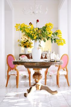 Mimosa,  The pink adds that little jolt of color.  TG