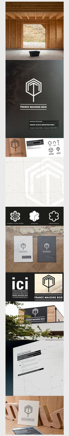 FRANCE MAISONS BOIS | #stationary #corporate #design #corporatedesign #logo #identity #branding #marketing <<< repinned by an #advertising agency from #Hamburg / #Germany - www.BlickeDeeler.de | Follow us on www.facebook.com/BlickeDeeler
