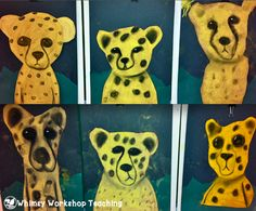 Fun art projects - Cheetahs with chalk pastel Whimsy Workshop Teaching http://whimsyworkshop.blogspot.ca/