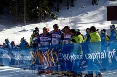 Bansko Open The final with Herman Meyer & Marc Girardelly Bansko Bulgaria, Ski And Snowboard, Skiing, Events, History, Winter, Ski, Winter Time, Historia