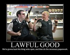 Nick and Danny, Hot Fuzz Dnd Funny, Hilarious, Vanellope Von Schweetz, Simon Pegg, Demotivational Posters, Nerd Humor, Gaming Memes, Fuzz, Monsters