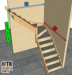 l shaped stairs | shaped stairs for tight space