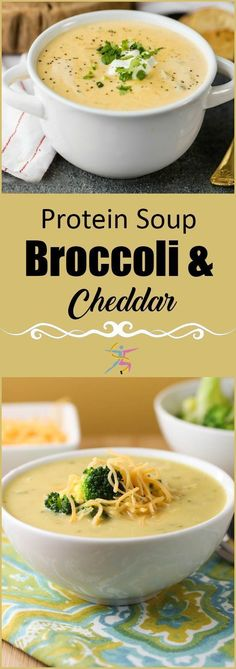 BariatricPal Protein Soup - Broccoli and Cheddar #PastaFoodRecipes
