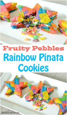 Rainbow Star Pinata Cookies are the colorful cookie with a hidden surprise…