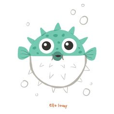 "Rhianna Wurman Illustration on Instagram: ""Oct. 26- ""Puffy."" Puffy little blowfish. 🐡  #doodleadayoct #puffy #blowfish #fish #pufferfish"" Fish Drawings, Cute Drawings, Animal Drawings, Fish Illustration, Illustrations, Niklas, Stoff Design, Cute Fish, Ipad Art"