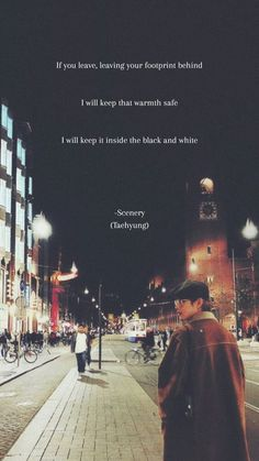Scenery -Taehyung Bts Lyrics Quotes, Bts Qoutes, Music Quotes, Bts Taehyung, Bts Bangtan Boy, I Need U Bts, Bear Songs, Bts Wallpaper Lyrics, Bts Backgrounds