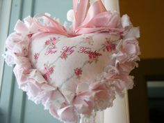 What a lovely gift idea!  Shabby Cottage Chic Rag Quilt Heart Valentine by toiledejouy, $7.50