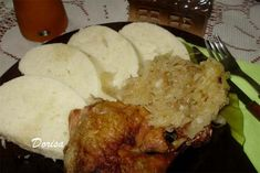 Fotorecept: Kura na kyslej kapuste Food And Drink, Pork, Rice, Chicken, Meat, Anna, Gardening, Kale Stir Fry, Pigs