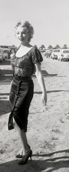 """Marilyn on the set of """"Bus Stop"""", 1956."""