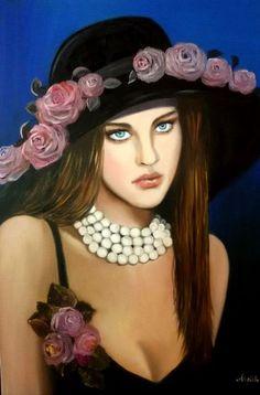 Signora con perle