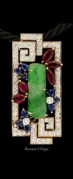 Rosamaria G Frangini | High Antique Jewellery | TJS | Art Deco Brooch