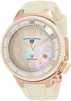 Swiss Legend Women`s 11844-BGWRA Neptune White Mother-Of-Pearl Dial Watch $121.91