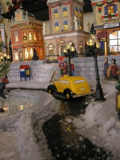 City display for Christmas village. Will have to do when I have more room. :)